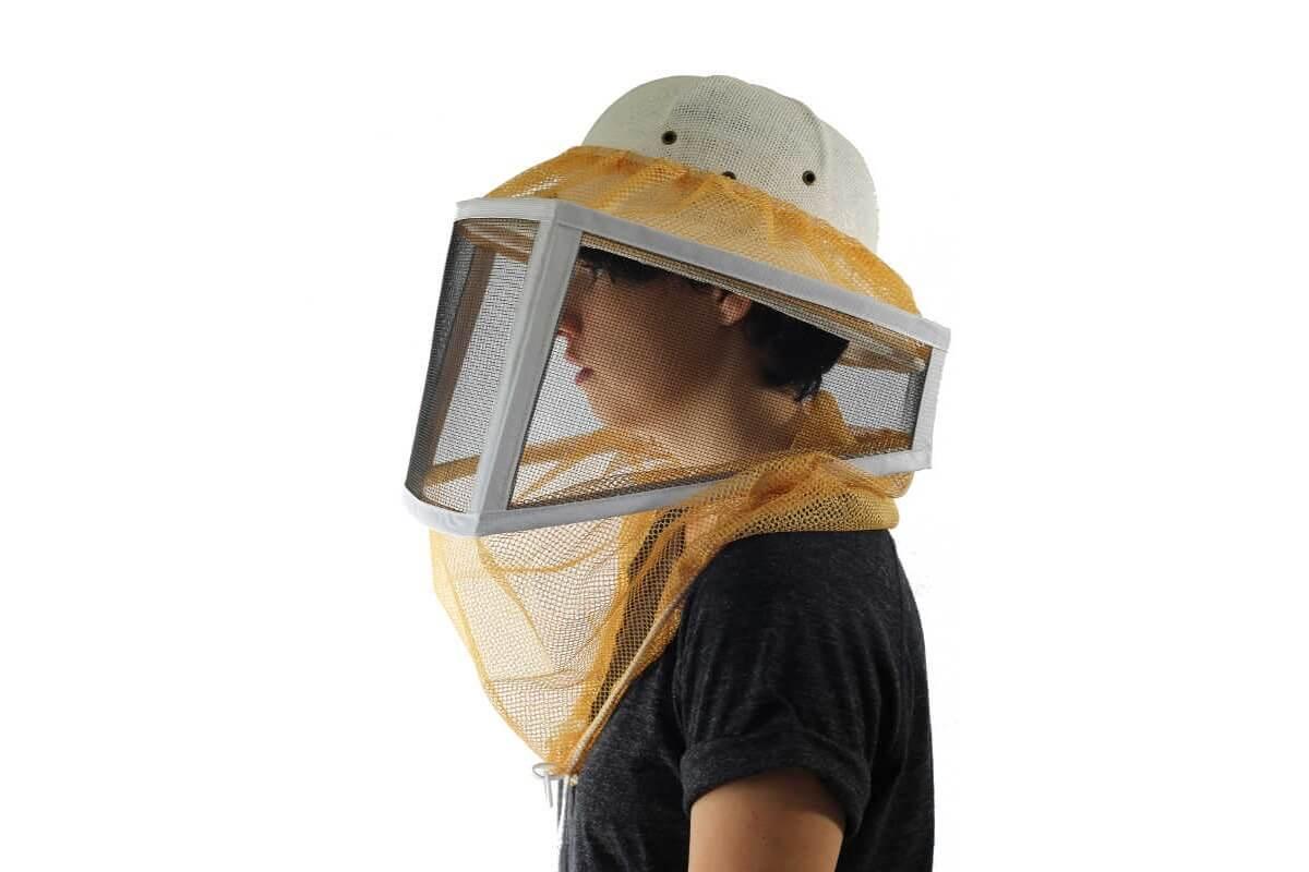 Ventilated Helmet Bee Veil Beekeeping Equipments Supplies